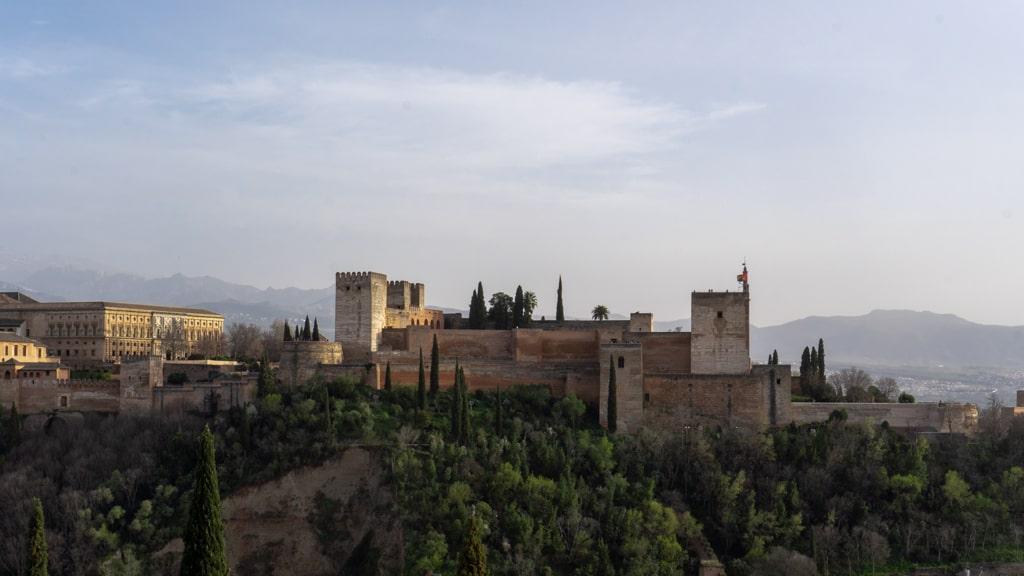 Punkt widokowy San Nicolas - widok na Alhambrę